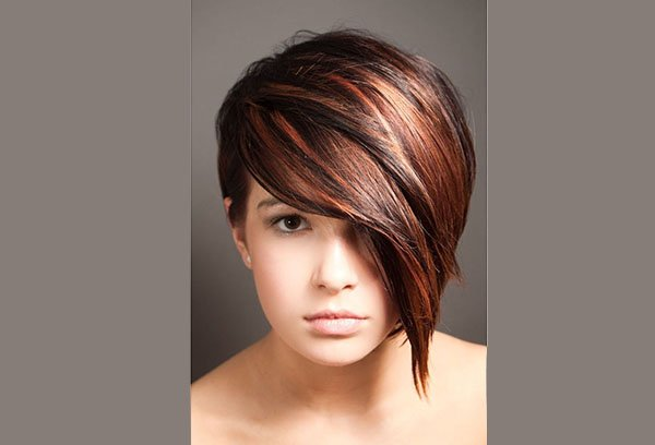 мелирование на темные короткие волосы