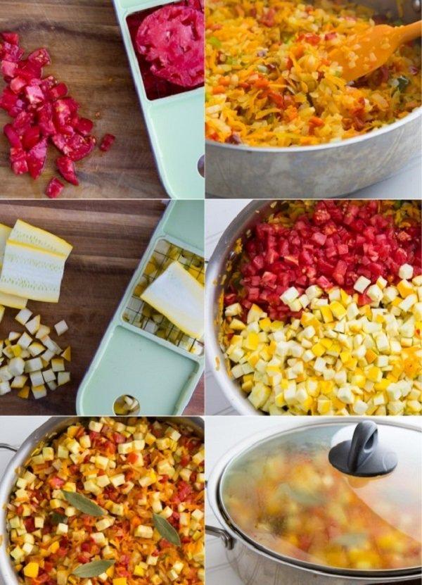 Тушеные кабачки в духовке и на сковороде быстро и вкусно