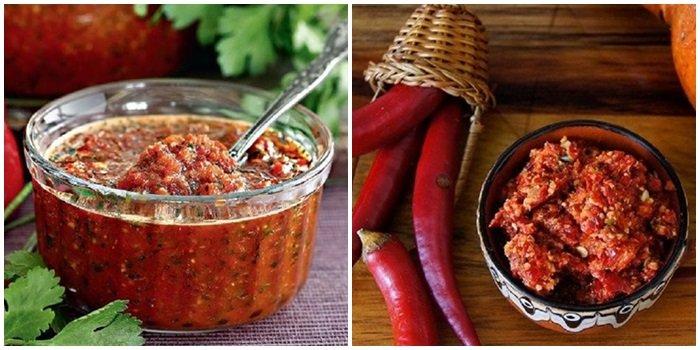 рецепт аджики из хрена ,помидор лука и чеснока