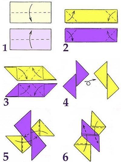 Как сделать из бумаги летающую звезду фото 309