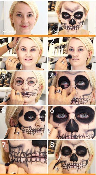 Как сделать своё лицо в красках 543