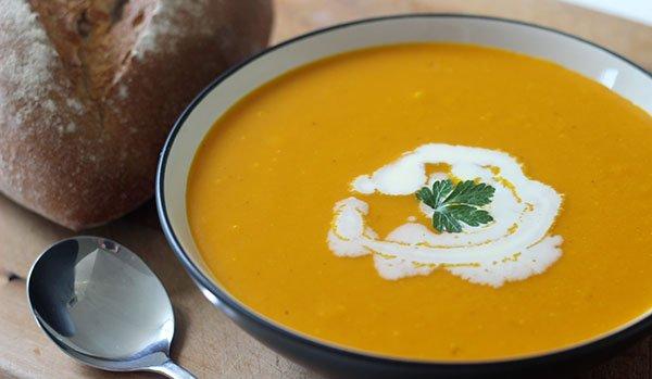 Простой суп пюре из тыквы