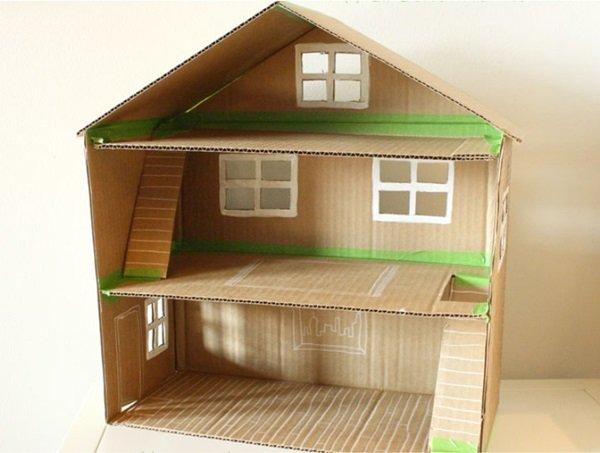 Сделать домик из коробки или картона своими руками фото 915