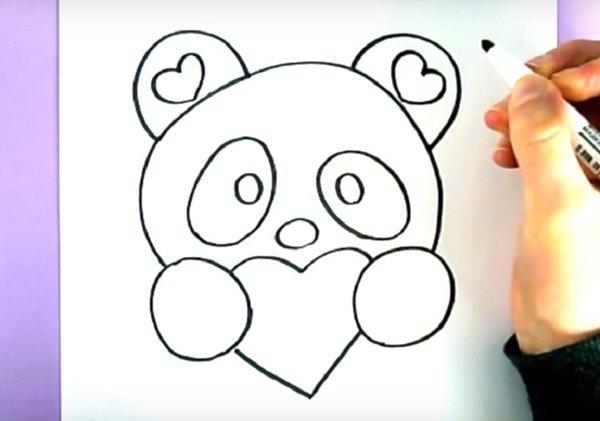 Нарисовать панду своими руками фото 803
