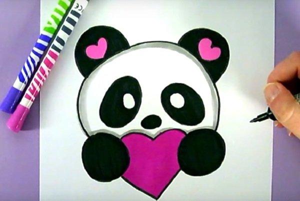 Нарисовать панду своими руками фото 898
