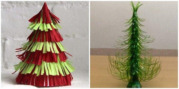 как сделать из картона новогоднюю елку
