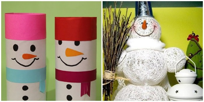 177Большой снеговик из подручного материала своими руками