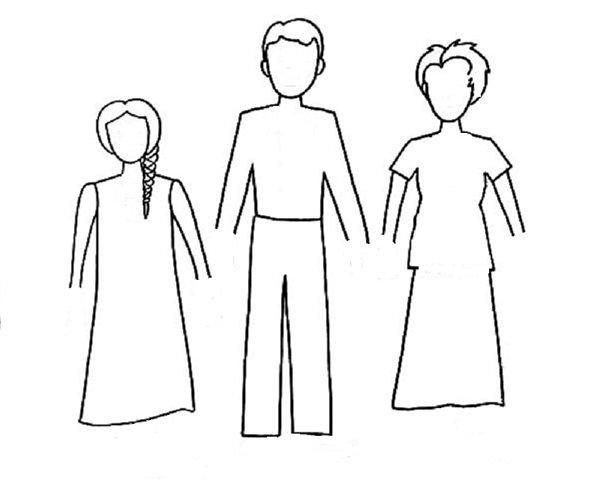 семья нарисованные картинки карандашом