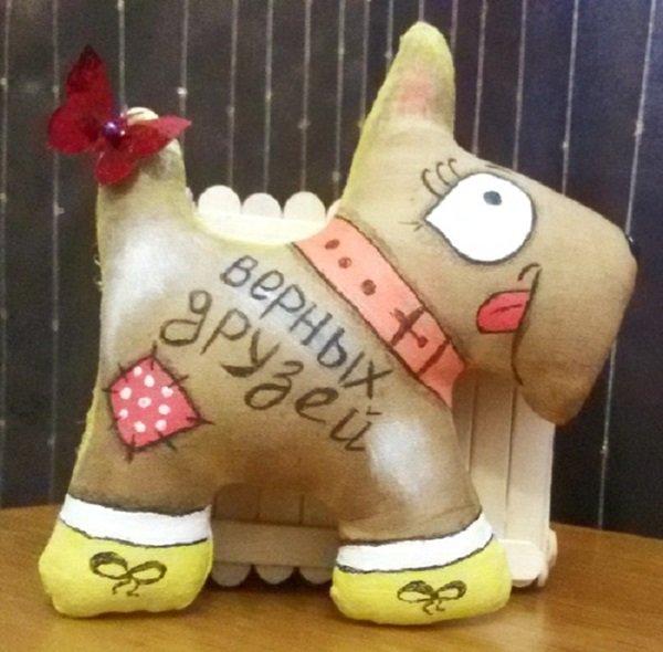 Елочная игрушка собака своими руками