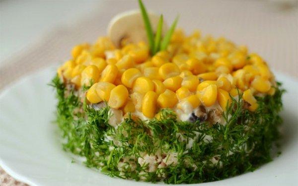 салат из курицы и ананасов слоями пошаговый рецепт с фото