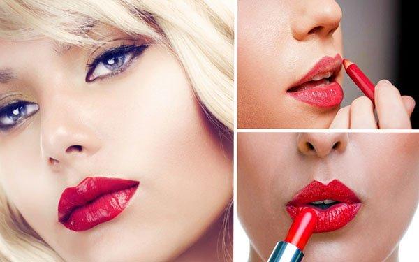 Как сделать праздничный макияж с красной помадой: 4 главных правила!