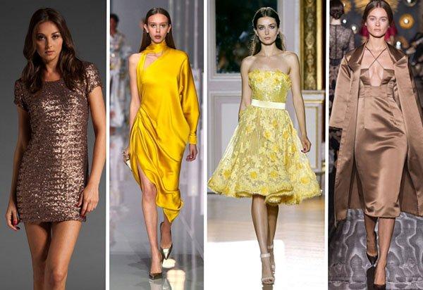 Модные цвета платьев для Нового года 2018: лучшие примеры с фото