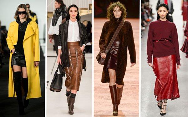 C чем носить кожаную юбку: 25 классных образов, которые вам понравятся!