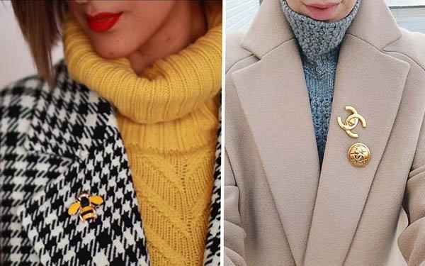 Фишка модного сезона - брошь. Как ее носить правильно