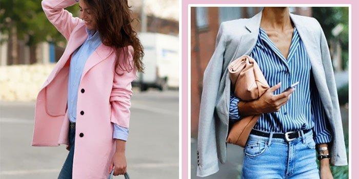 Как стильно носить голубую рубашку: лучшие идеи для весны