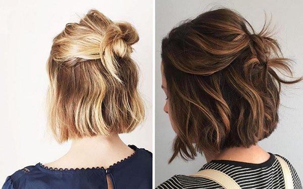 Простые стильные укладки для коротких волос на каждый день