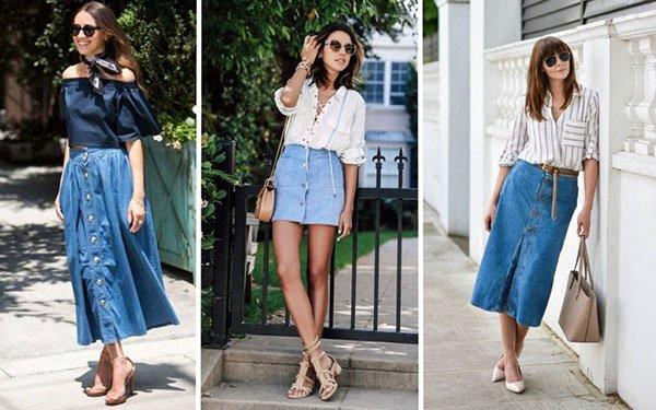 Как носить джинсовую юбку в 2018-м: лучшие летние образы