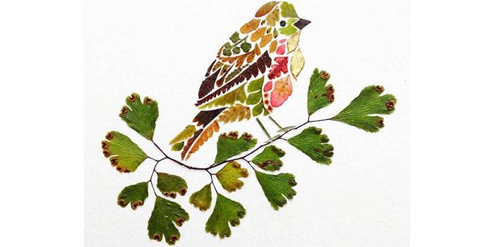 Красивые картины из сухих листьев и цветов своими руками