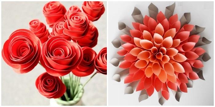 Цветы из бумаги своими руками шаблоны 471