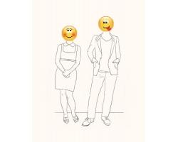 Виртуальная любовь, два незнакомых человека