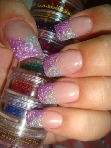 Блестки для ногтей сухие