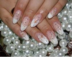 Свадебный дизайн ногтей в домашних условиях