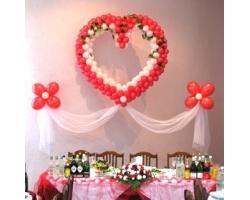 Оформление свадьбы шарами и цветами