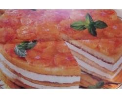 Новогодний бисквитный торт с нежным сливочным кремом