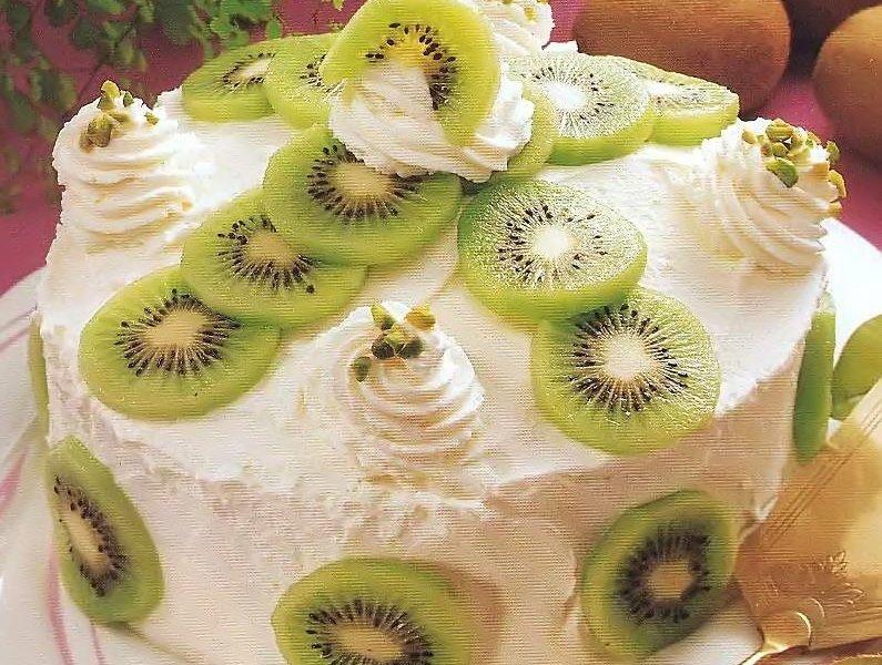 Картинка торт с киви