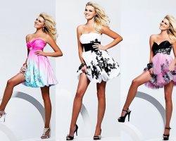 Модные короткие платья на выпускной 2016