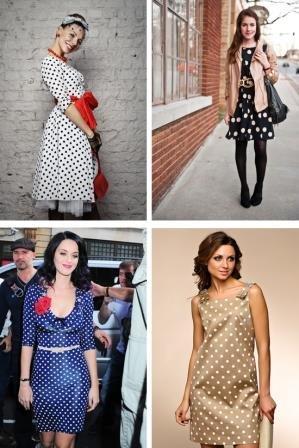 87a14087ad8e2d Платье в горошек: особенности подбора фасона и аксессуаров.