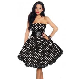 c5403d41718e36 Классическая расцветка платья в горошек представлена сочетанием белого  цвета с черным или красным. Впрочем, сейчас в моде и другие тона, выбор  которых ...