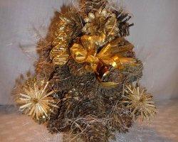 Как сделать новогоднюю елку из шишек, мастер-класс с фото