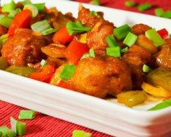Аппетитная хрюшка или свинина в кисло-сладком соусе