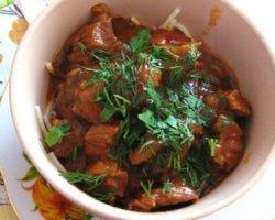 Мясо в кисло-сладком соусе, вкусный рецепт на 23 февраля