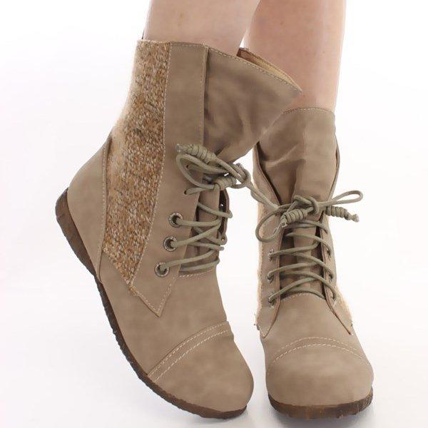 Модные женские ботинки  на шнуровке c0f46d697d9ae