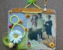 Подарок бабушке на 8 марта: открытка своими руками