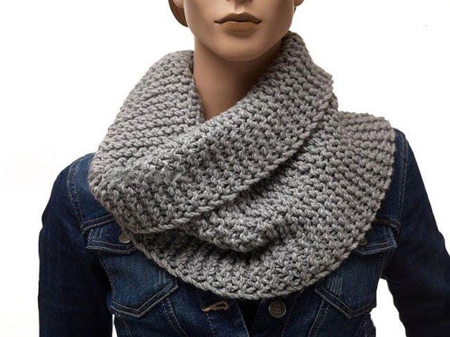 как связать шарф хомут для женщины спицами вяжем шарф хомут