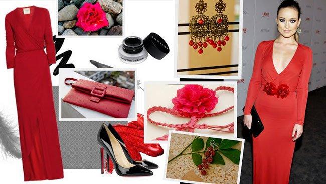 f845b7458e8 Аксессуары к красному платью  фото. Как правильно подобрать ...
