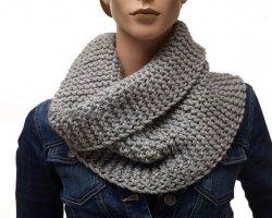 Как связать шарф хомут?