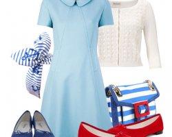 Аксессуары к голубому платью
