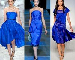 Аксессуары к синему и бирюзовому платью