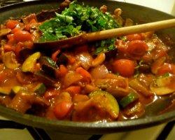 Простой рецепт постного овощного рагу