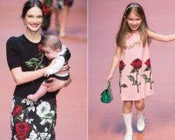 Ода материнству от Dolce & Gabbana на миланской Неделе моды
