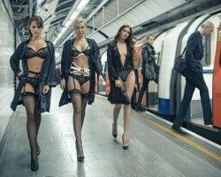 Модный показ в лондонском метро