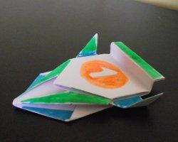 Гоночная машинка из бумаги