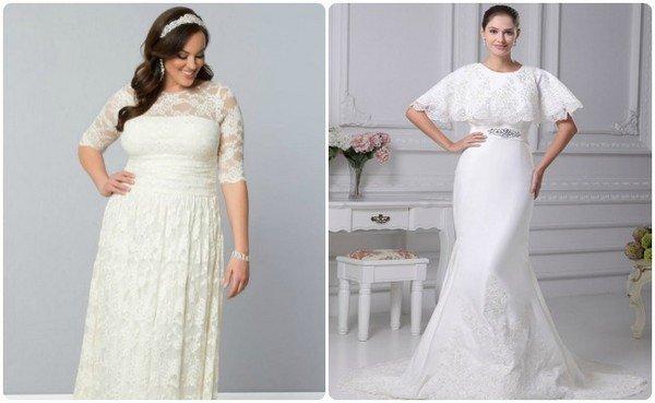 7e5c7f8dc03 Свадебные платья 2015 для полных девушек  фото коротких платьев ...