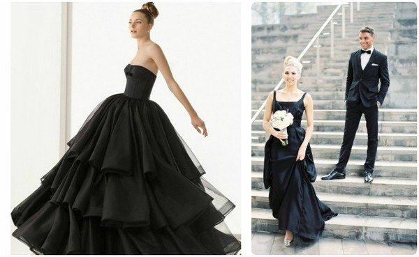 f84874f89cd Как выбрать черное свадебное платье  фото невест в свадебном платье ...