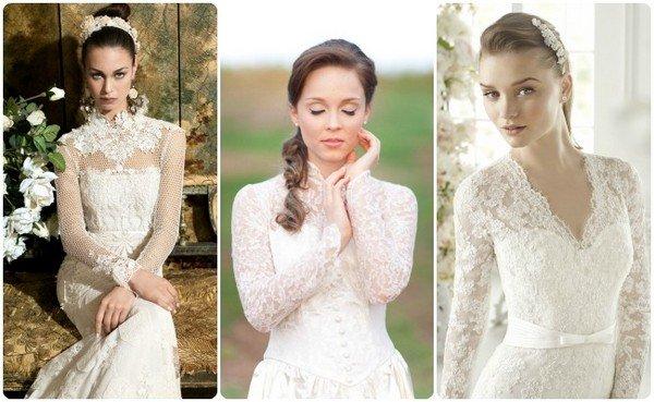 ff5ea7a60cf36c Как выбрать закрытое свадебное платье: фото. Платья с закрытыми ...