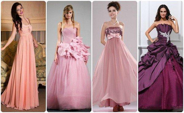56947adfb28 Какое розовое свадебное платье выбрать невесте  фото красивых ...